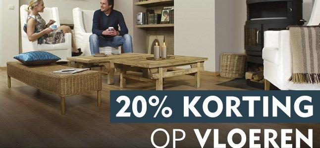 20% korting op vloeren